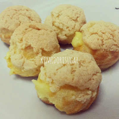 Japanese Crispy Cream Puff / Kimidori Sugar