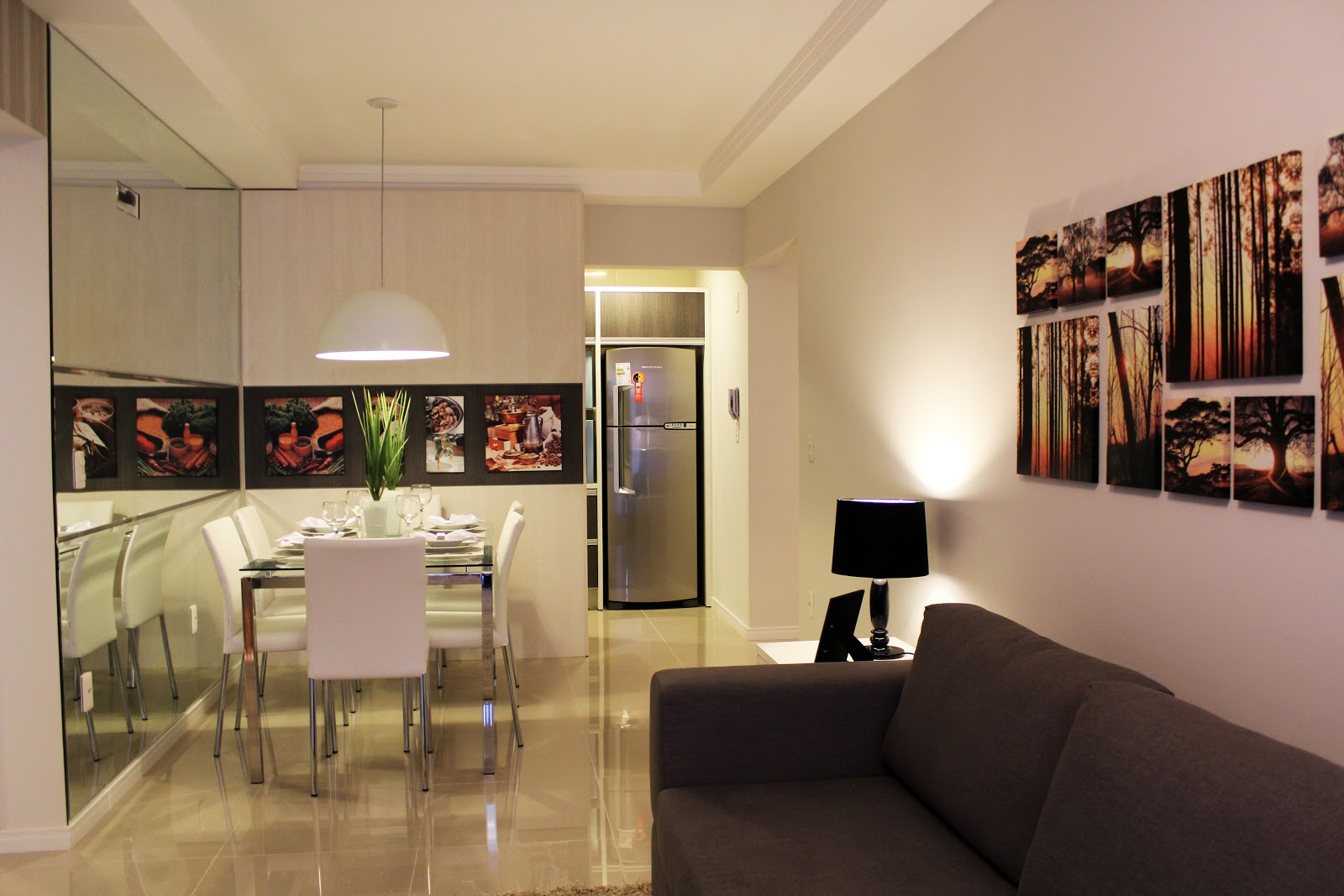 Arquitetura feminina apartamento decorado salas part 1 for Decoracion de salas de apartamentos