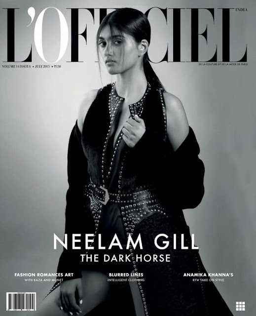 Model @ Neelam Gill by Onin Lorente for L'Officiel India, July 2015