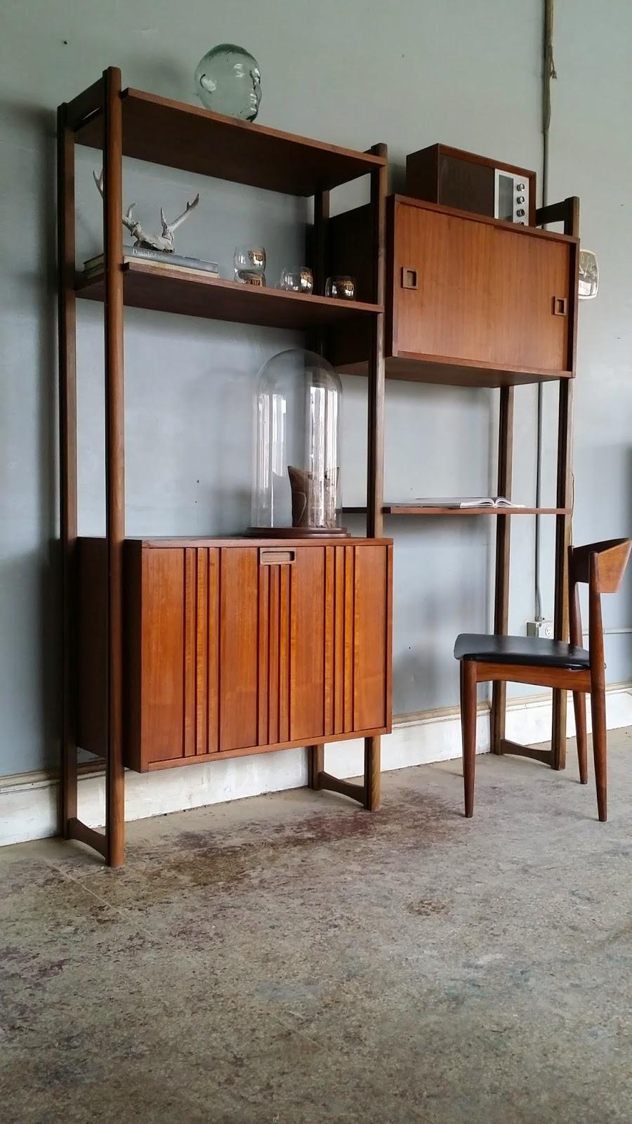 vintage ground stunning mid century wall unit shelving unit. Black Bedroom Furniture Sets. Home Design Ideas