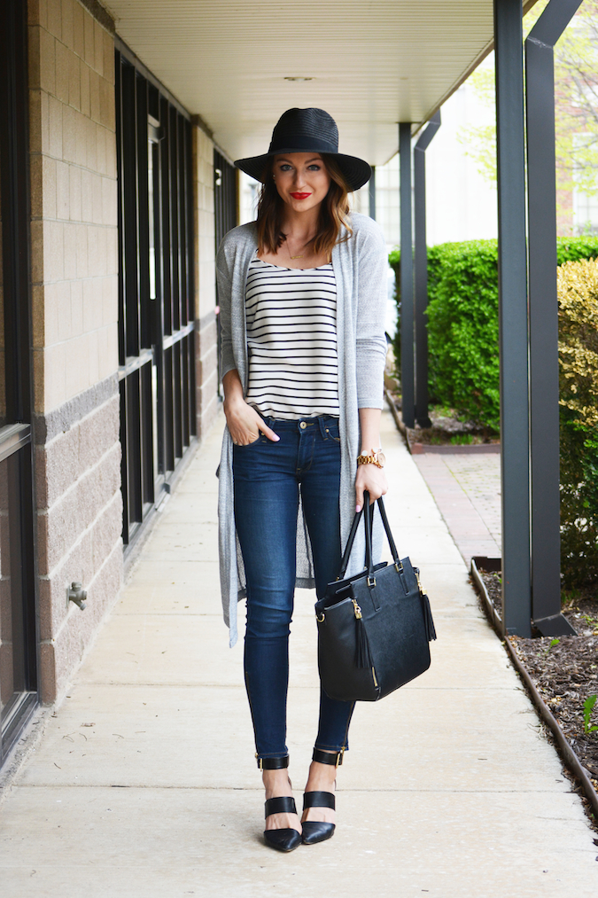 Stripes with a cardigan
