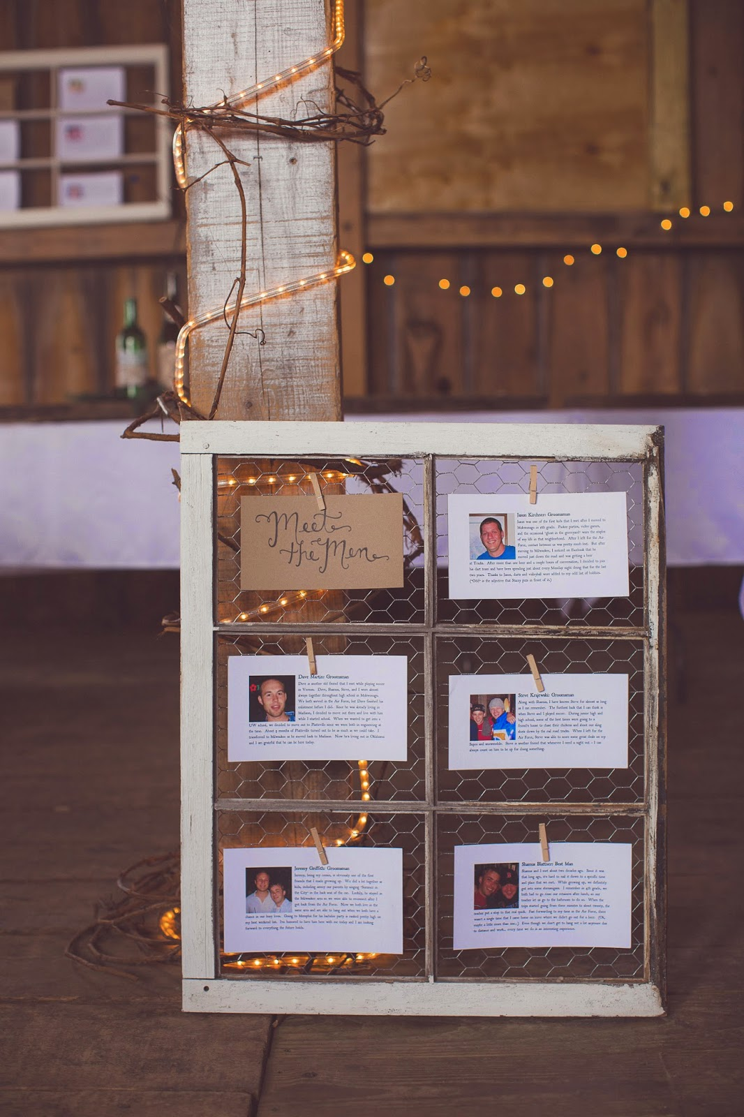 Meet the Groomsmen wedding sign