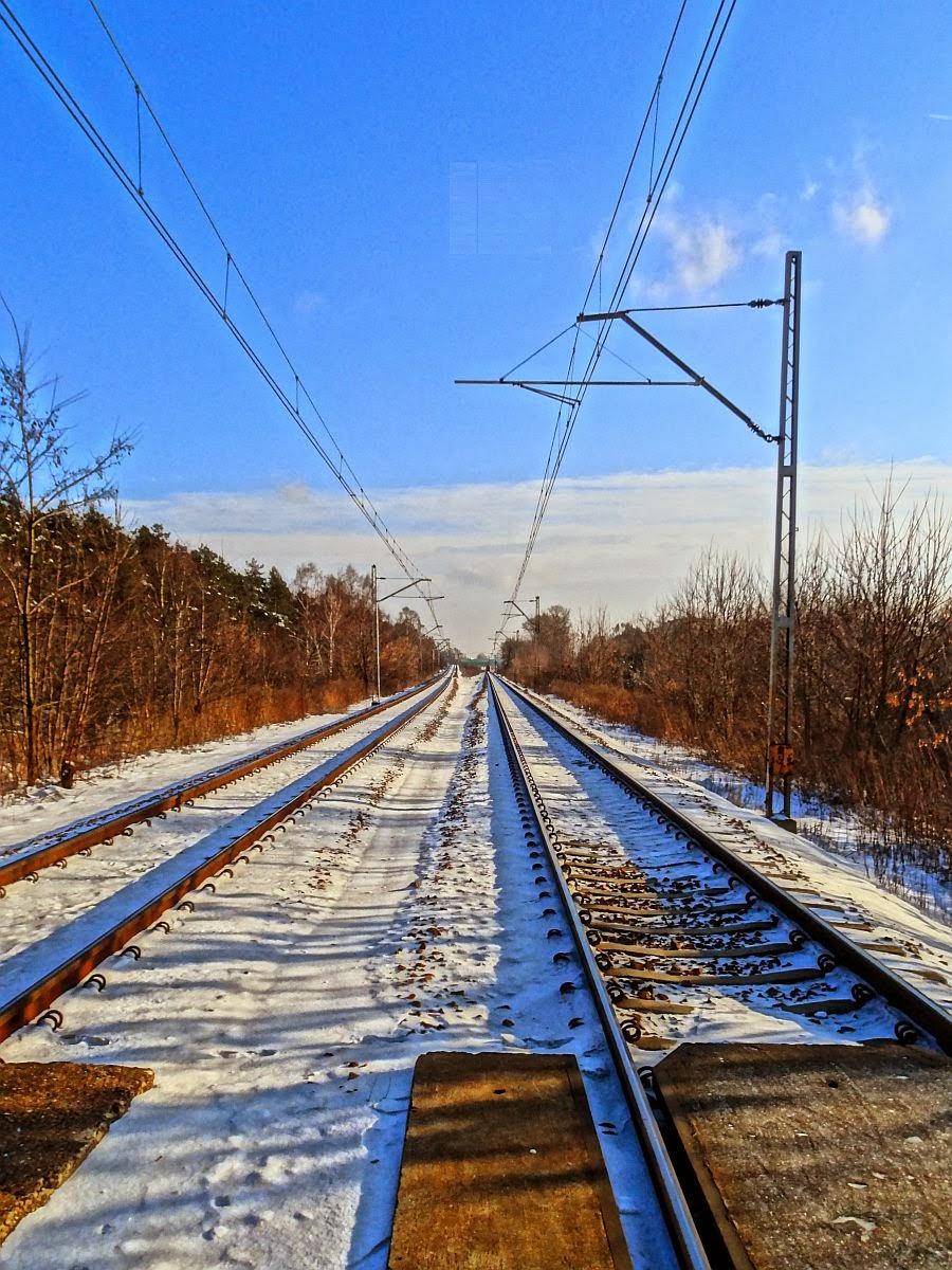 Linia kolejowa nr 7 w okolicy ulicy Makowieckiej