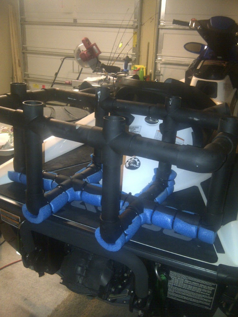 Nick S Fishing Blog How To Jet Ski Build A Pvc Cooler Rack