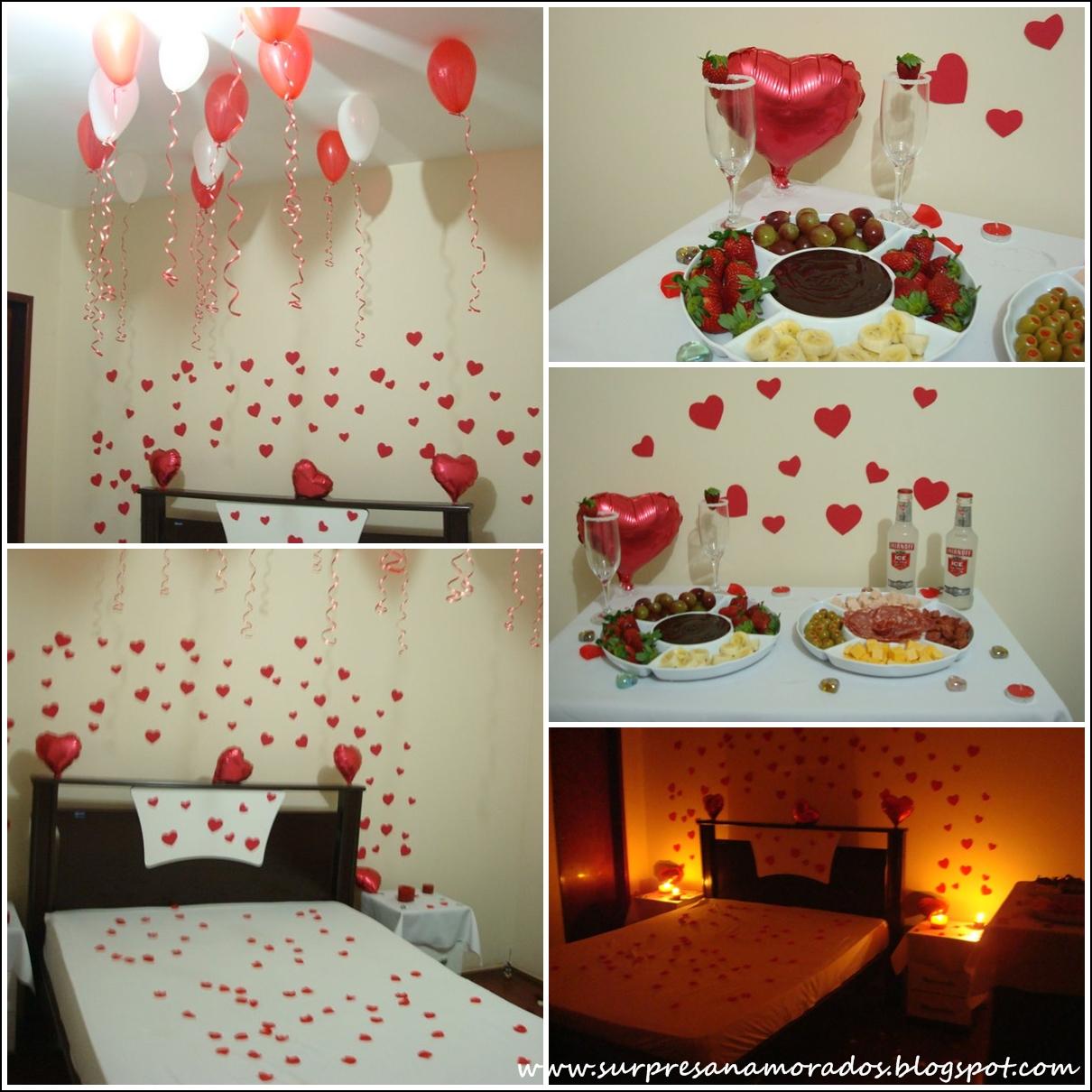 Decoração para o Dia dos Namorados  Surpresas para Namorados