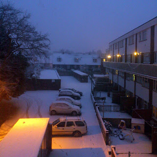 snowy dawn in the friary