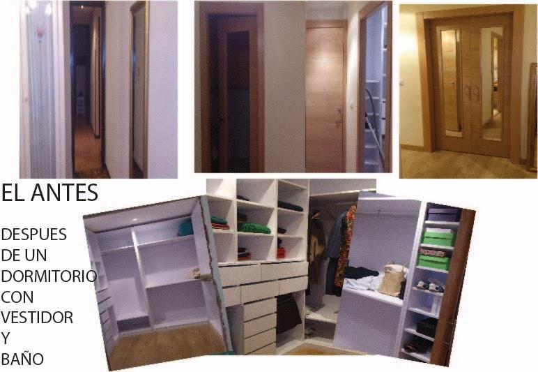 un dormitorio con baño y vestidor