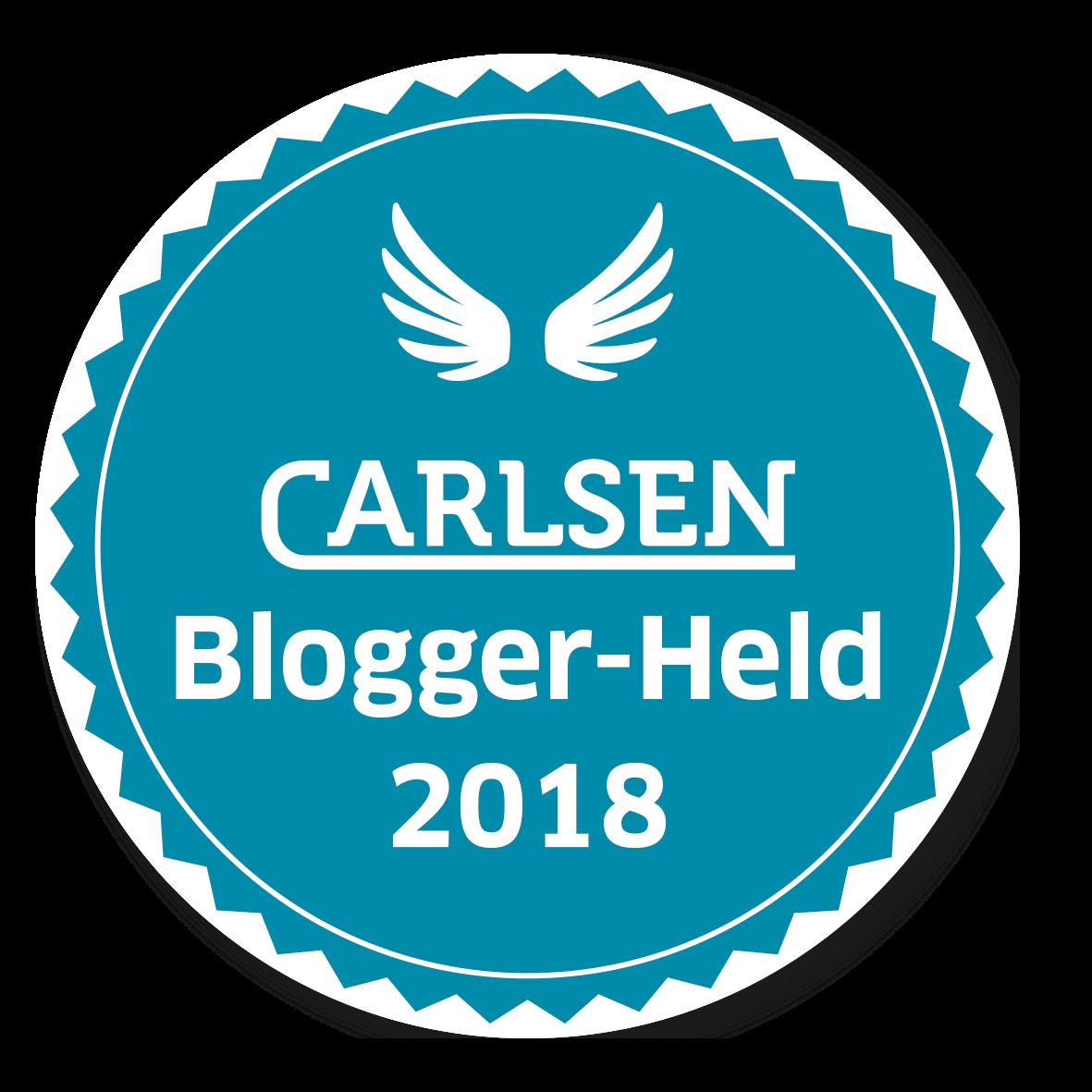 Ich bin ein Carlsen Bloggerheld 2018!