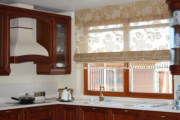Roman blinds in the interior
