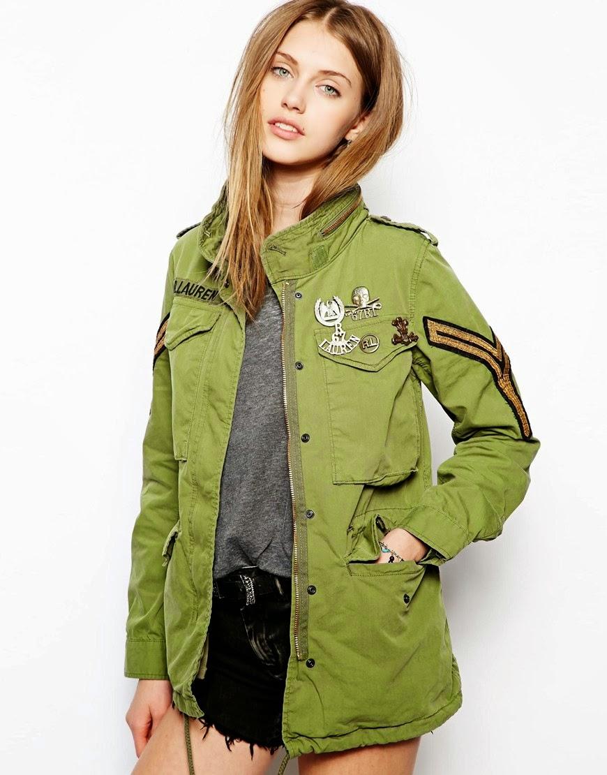 ralph lauren khaki coat