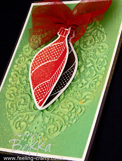 Fantastic Ornament Keepsakes Card by Bekka - get everything you need to make this card at www.feeling-crafty.co.uk