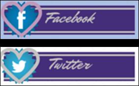 Redes sociales doble botón morado