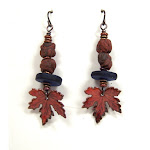 Clay, Glass & Enamel Earrings