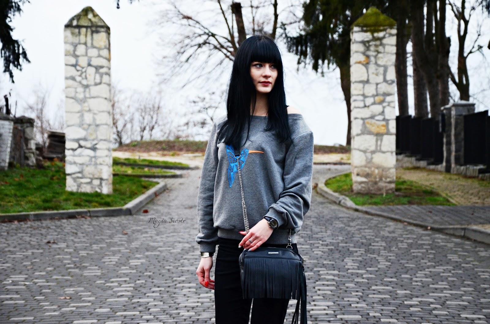 Fabiola torebki, torebka skórzana, torebka z frędzlami, mała czarna, czarna torebka, torebka na łańcuszku