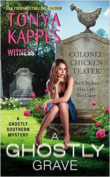 a ghostly grave cover