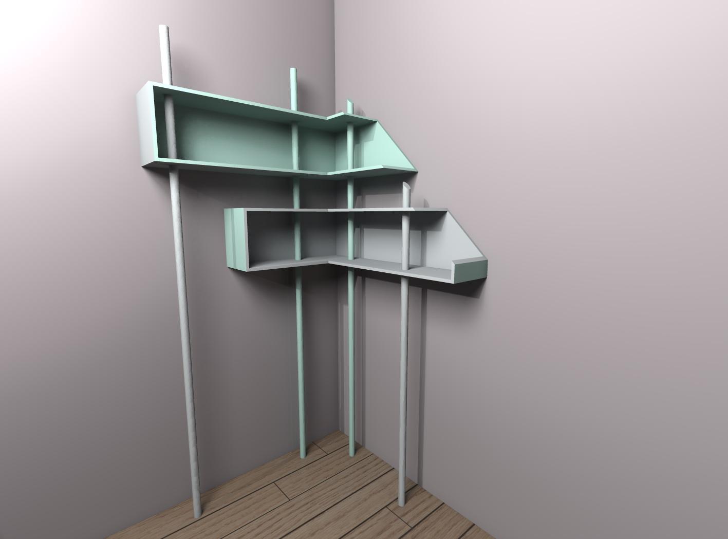 Collection de meubles 1 lana 39 i d coration et conception d 39 int rieur - Etagere petite profondeur ...