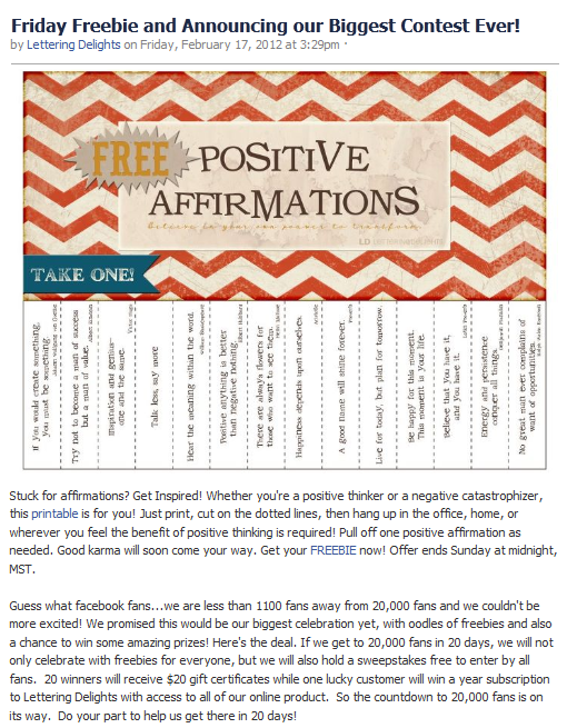 photo relating to Printable Positive Affirmations identified as Less than A Cherry Tree: LD Friday Freebie: Sure