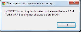 IRCTC Tatkal Ticket Frame