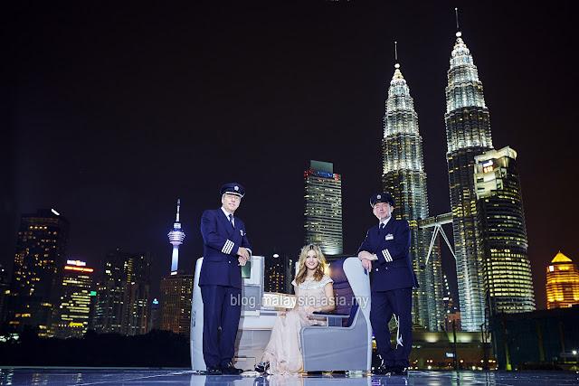 British Airways Inaugural Flight to Kuala Lumpur Malaysia