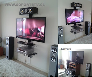 Muebles led tv y Receiver