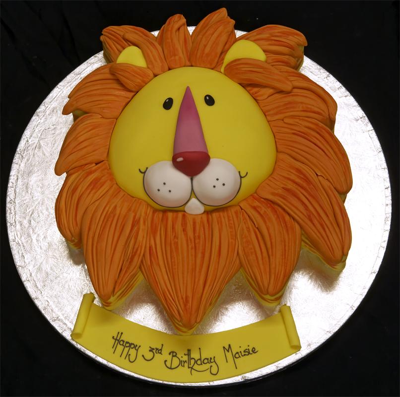 Birthday cake lion birthday cakes