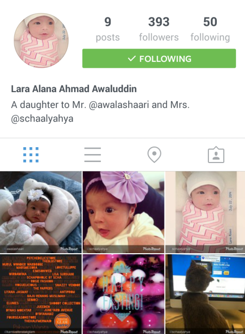 Instagram'Babylaraalana'