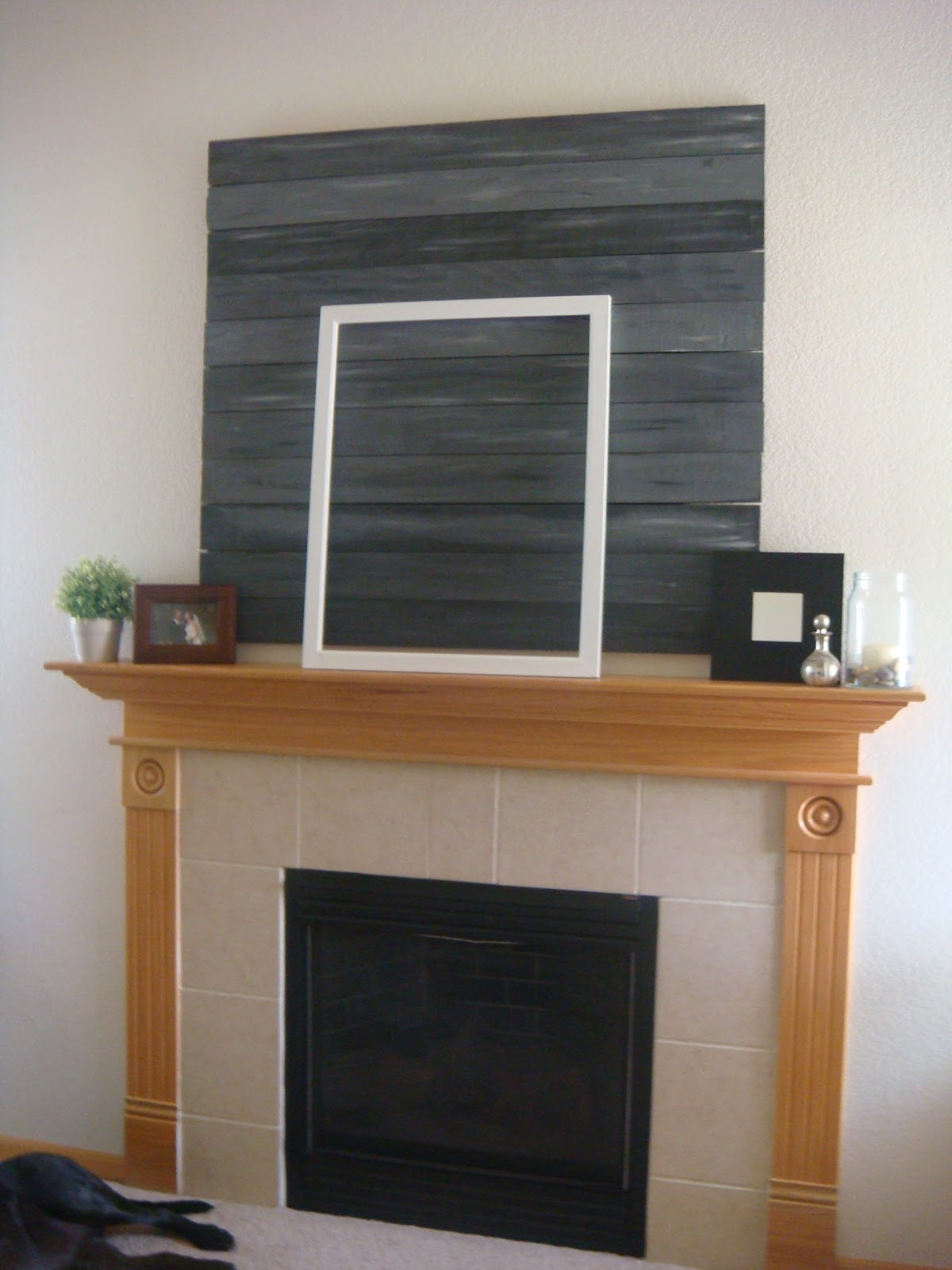 magenta and lime: fireplace makeover