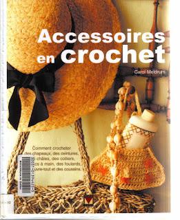 вязание крючком, книги о вязании, вязаные украшения, Accessoires en crochet