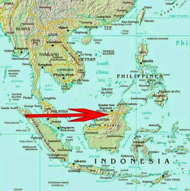 brunei darussalam location