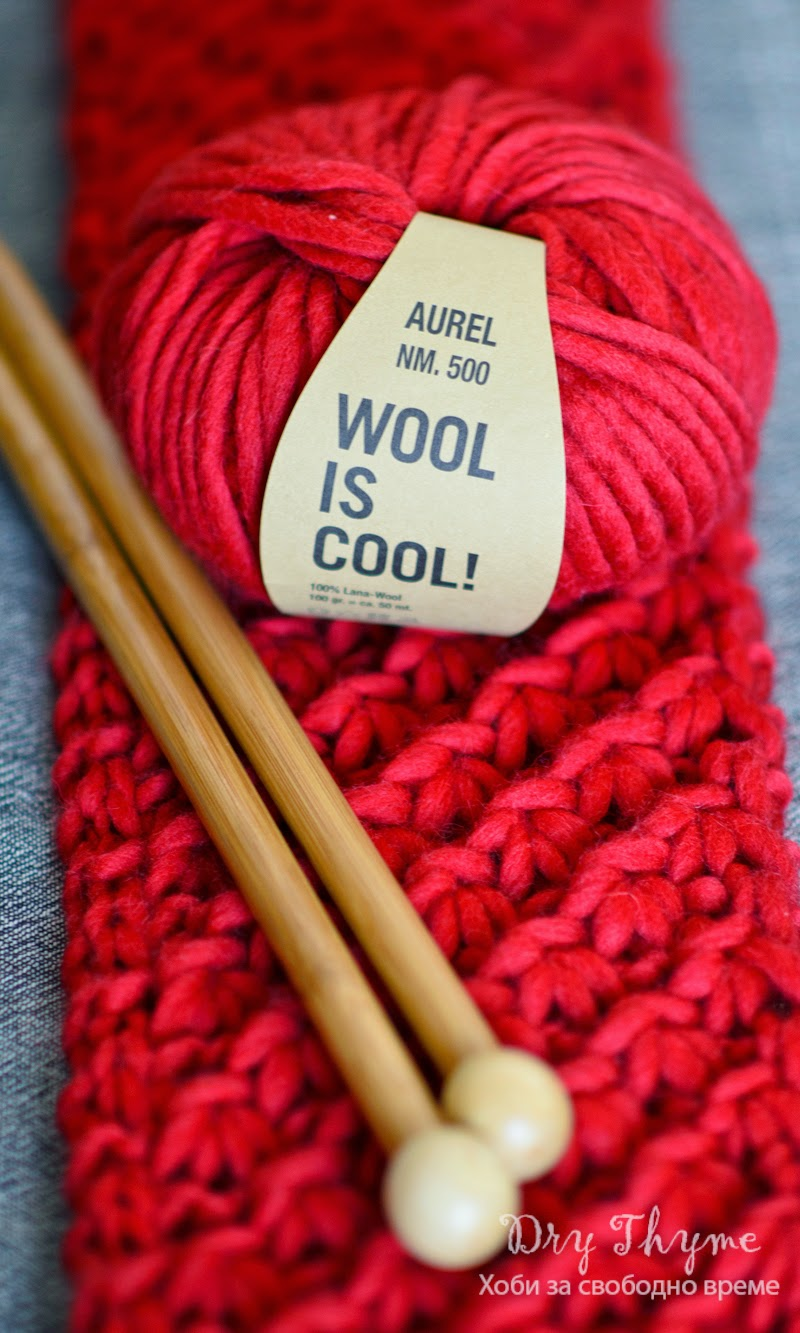 Wool is cool red scarf
