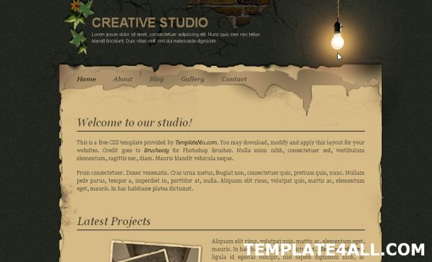 Grunge Design Gray CSS Website Template