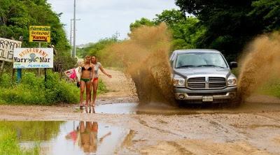 美女と泥水