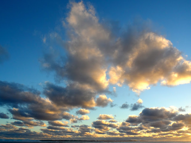 clouds at sunset on Rarotonga