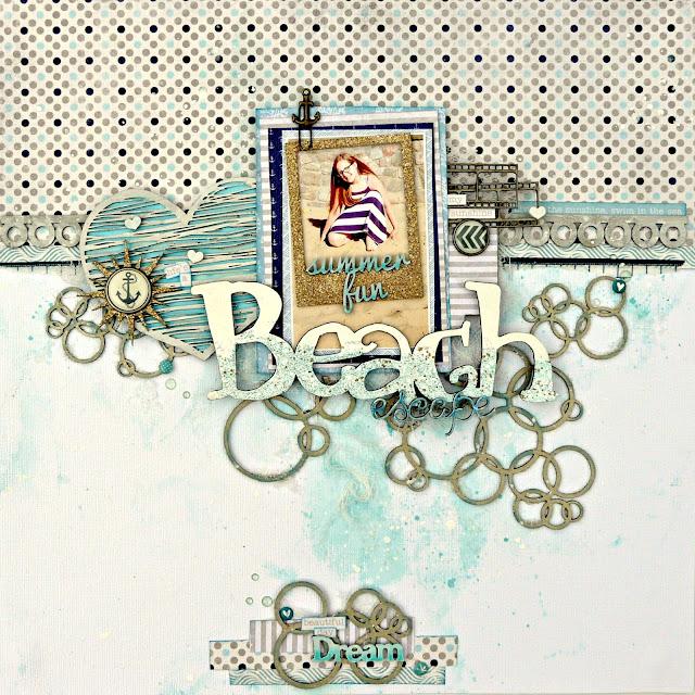 beach escape scrapbook layout tracee provis 2crafty chipboard 01