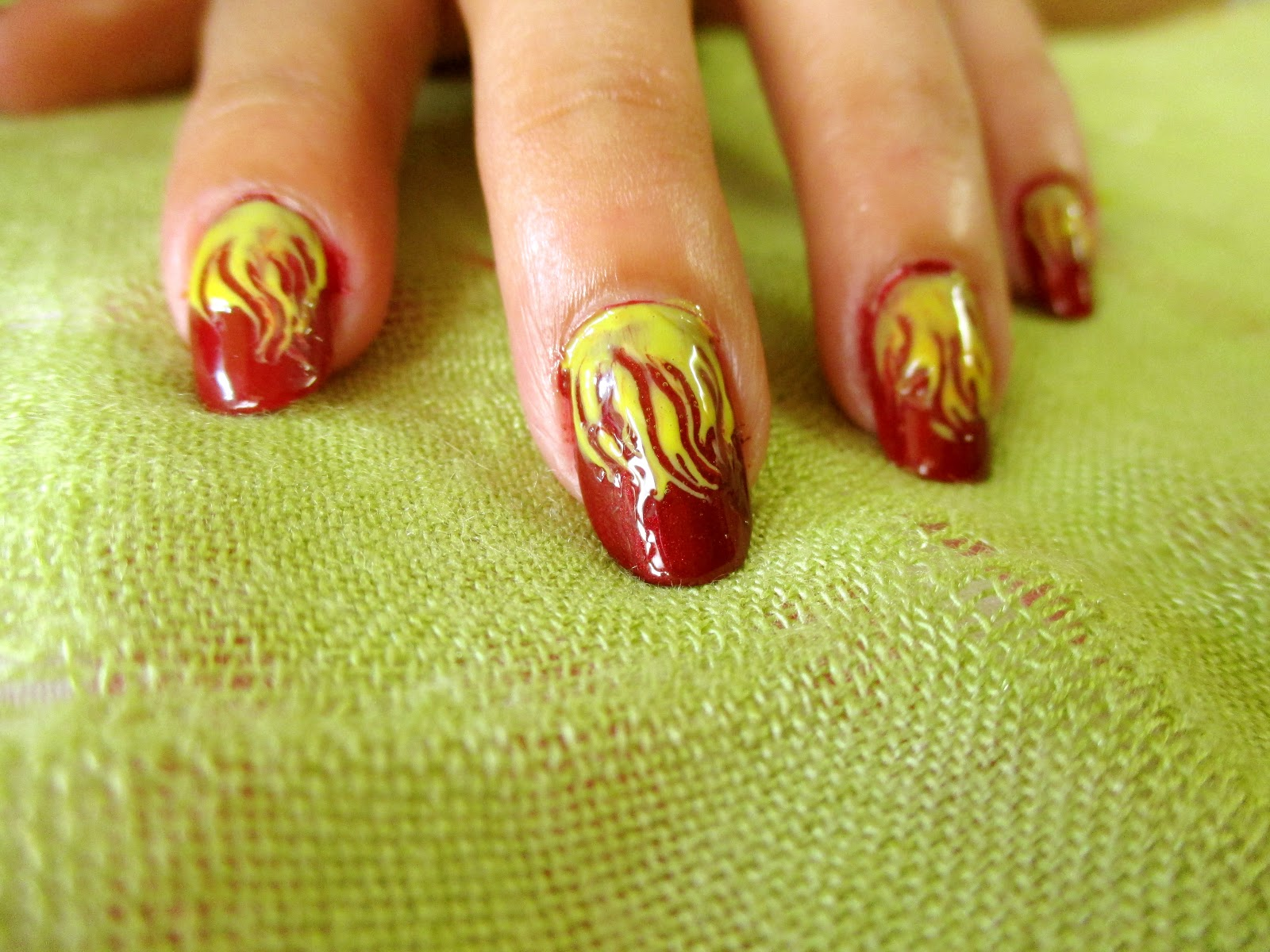 Style small world easy and simple fiery nails art design easy and simple fiery nails art design without tools for beginner prinsesfo Images