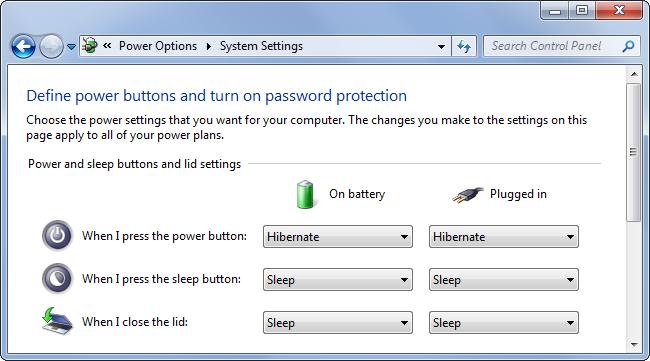 إغلاق الجهاز بدون مشاكل  باستخدام زر Power