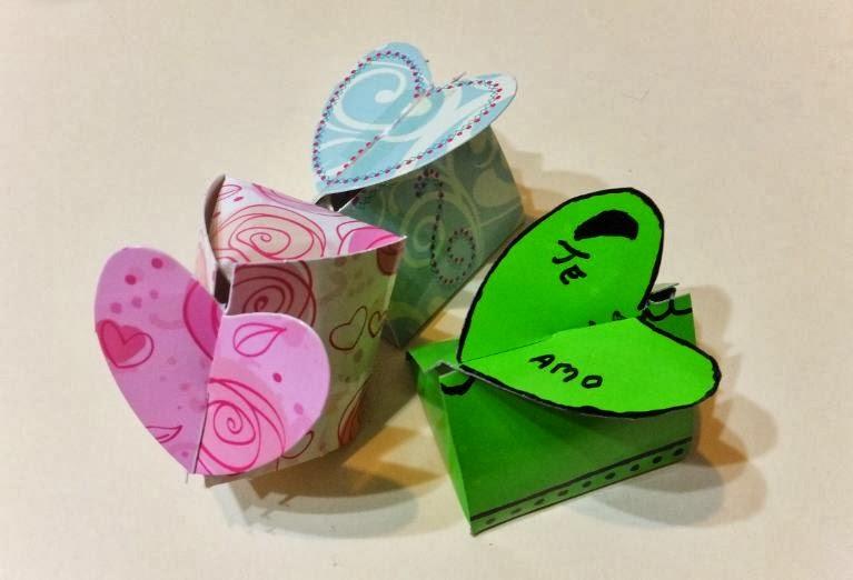 5 ideas sencillas hechas de cartón para celebrar San Valentín