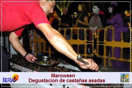 Todos los treinta y uno de octubre, en Maro, le invitan a la degustación de castañas asadas