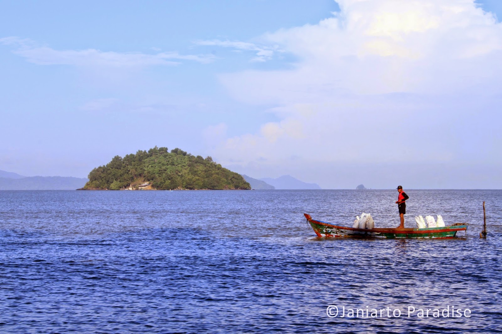 seascape; water; fisherman; gosong beach; bengkayang; west borneo