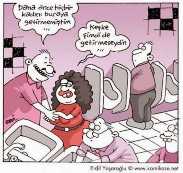 tuvalet pisuvar kadın erkek karikatürleri