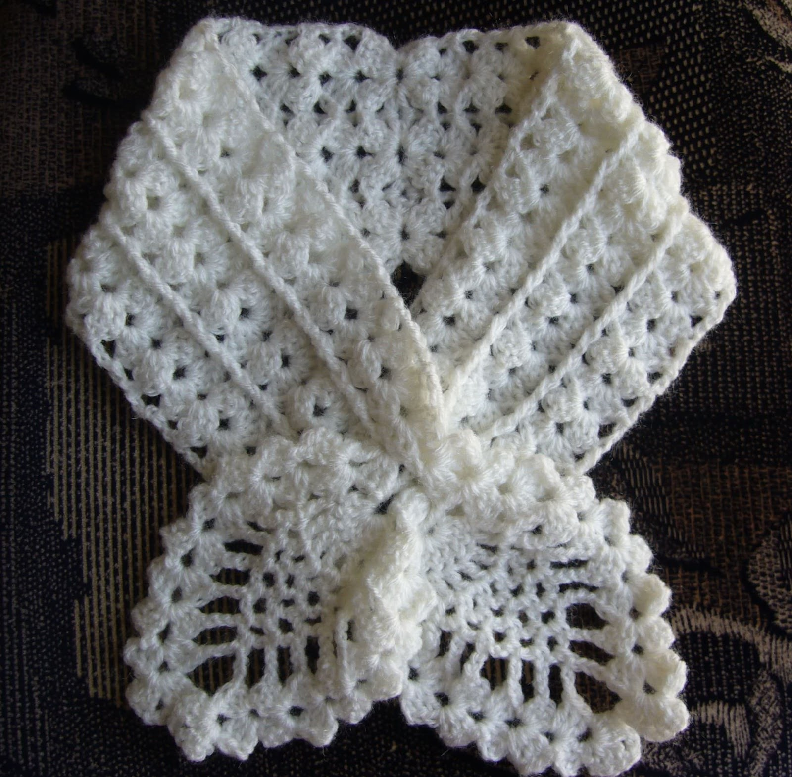 Crochet Patterns Neck Scarves : loved this pattern. It is so feminine and delicate. The scarf pattern ...