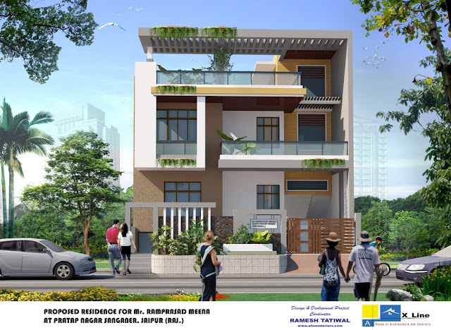 Emejing Modern Indian Home Design Front View Photos - Amazing ...