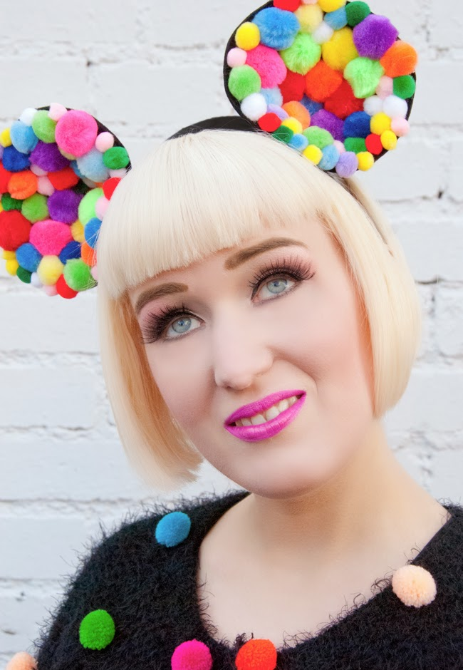 pearls & Swine, pompom headband, minnie ears