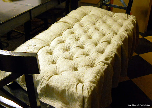 diamond tufted ottoman tutorial