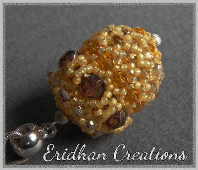 beaded bead pendant