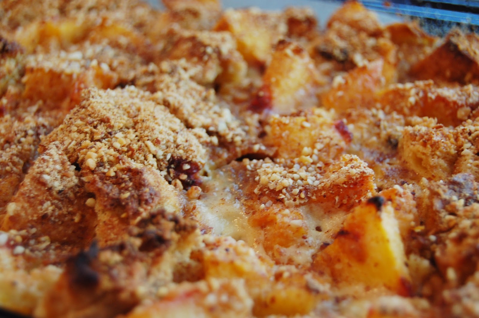 PromiseMe2....and A Lot About Food!: Panettone Peach Bread Pudding
