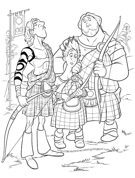 Disney Movie Brave Coloring Pages
