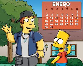 calendario_los_simpson_enero