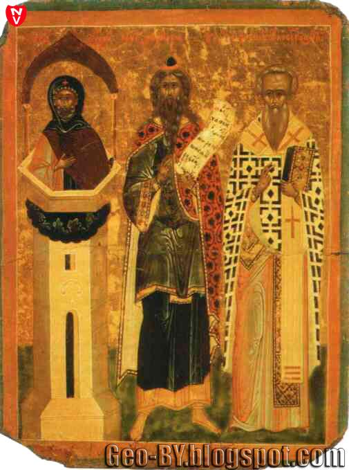 Симеон Столпник, Пророк Захария, Иоанн, Архиепископ Новгородский