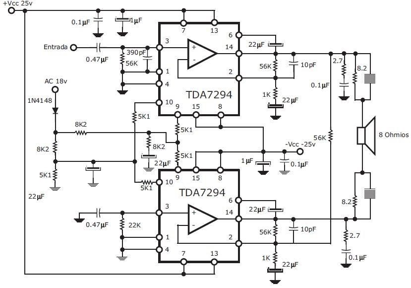 electronica casero  amplificador de 300w